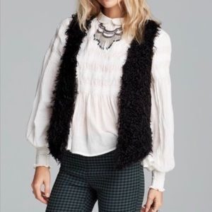 Free People shaggy vest